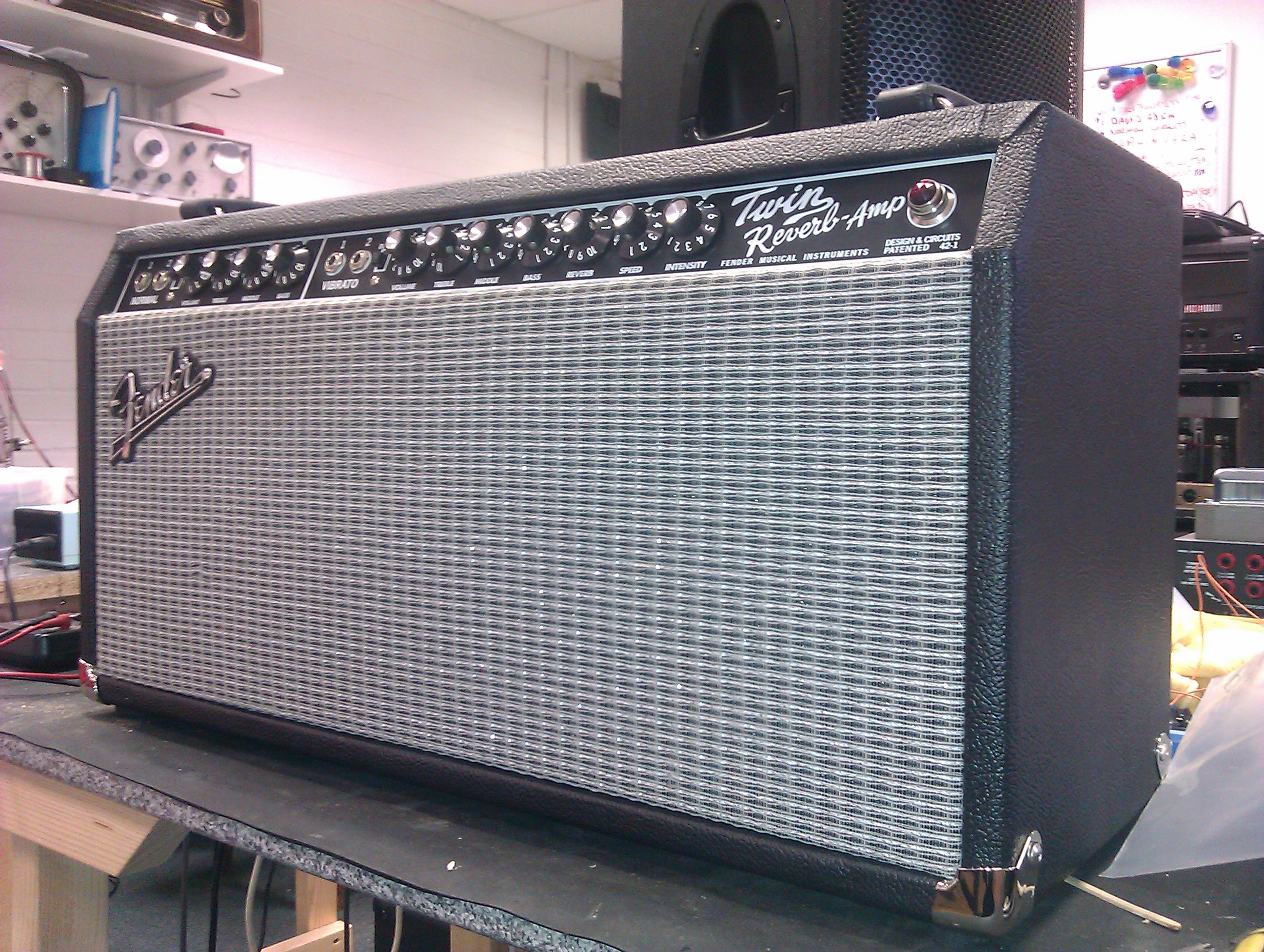 Fender '65 reissue Twin Reverb - rehoused in a Dual Showman style cabinet