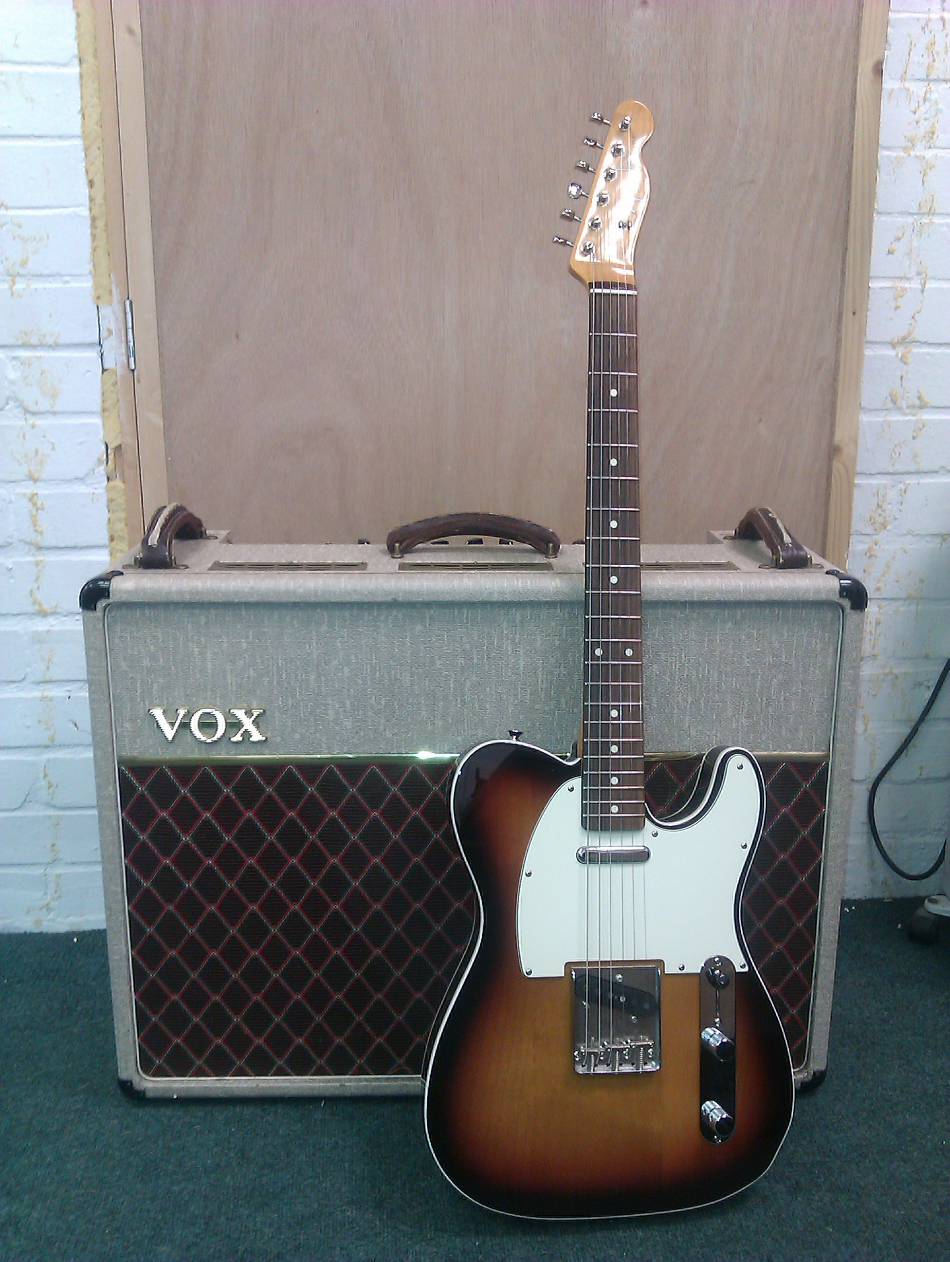Fender Japan Telecaster Custom and Vox AC30 anniversary edition amp