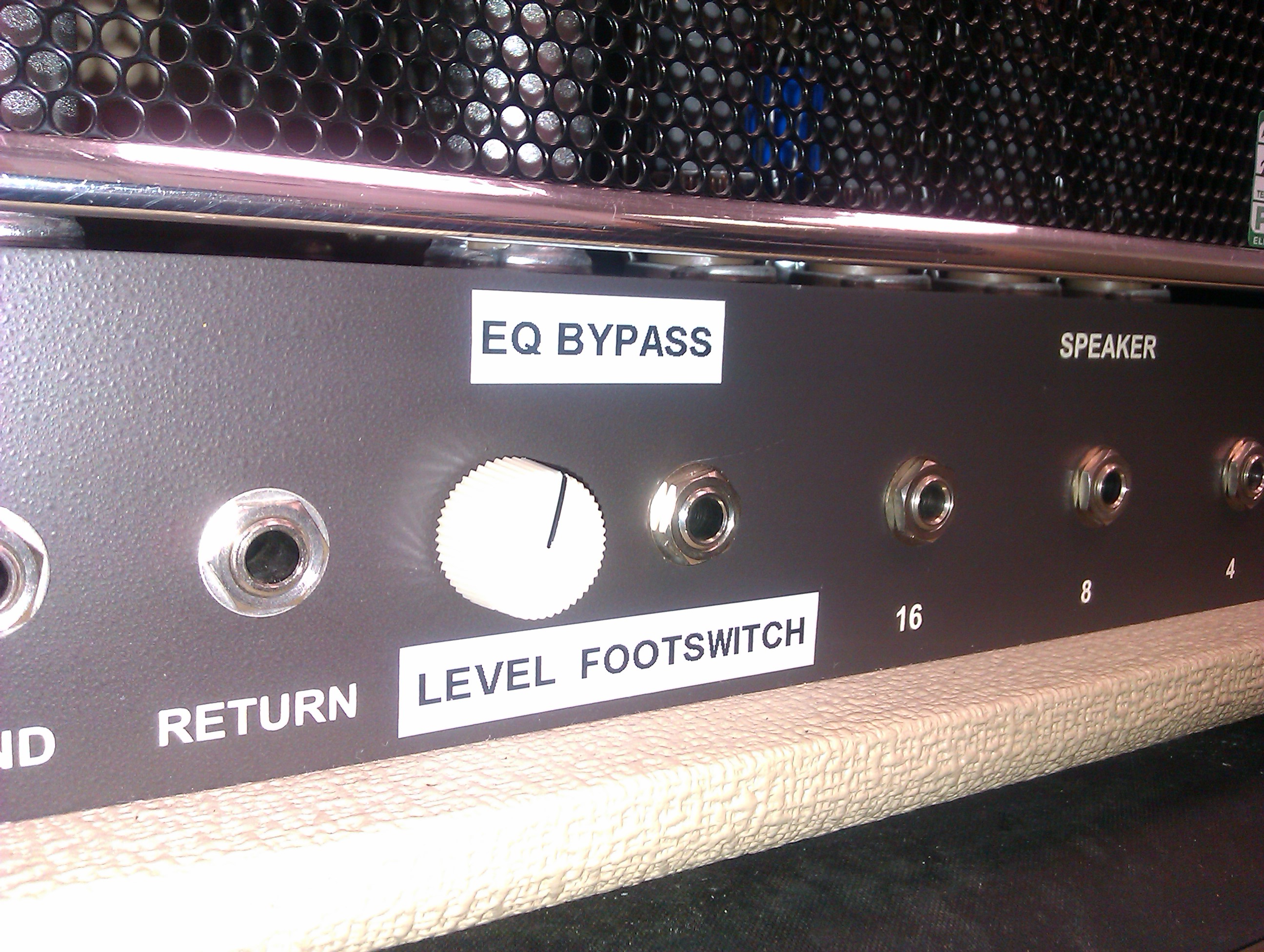 "The EQ Bypass mod ""business end"" in close up."