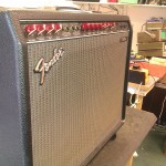 "Fender ""The Twin"" amp, red knob series"
