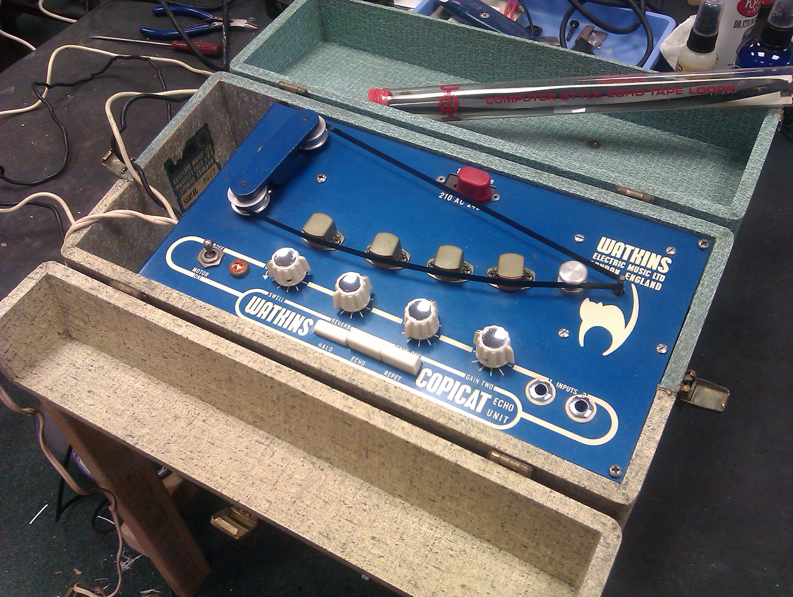 Sought after valve powered classic British tape echo unit